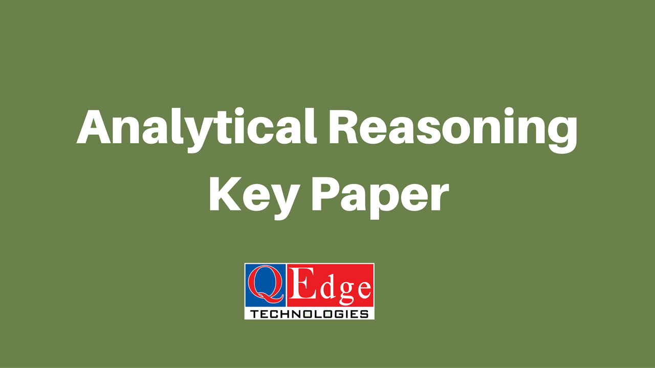 analytical reasoning key paper