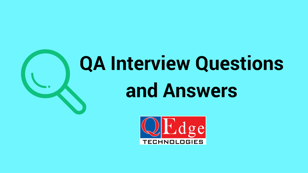 qa interview answers questions