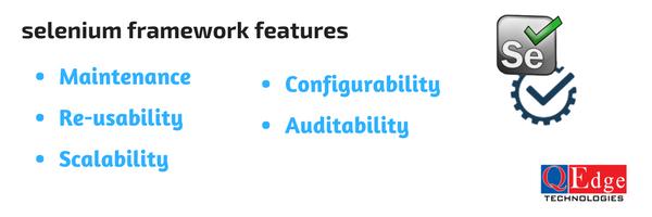 selenium frameworks features